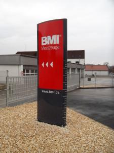 werbepylon konvex dekupiert BMI hersbruck